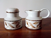 Vintage Midwinter Stonehenge Wild Oats Cream and Sugar Set