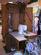 Newhome-Janome sewing machine and cabinet..$400