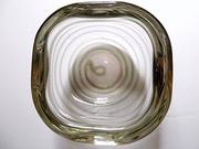 Vintage Italian Murano Art Glass Bowl, Spiral, Barovier & Toso