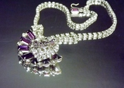 Vintage Amethyst Rhinestone Necklace