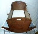 Victorian Walnut Rocking Baby Cradle
