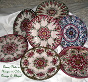 Handpainted Vintage Scalioped Plates