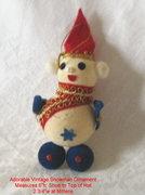 Vintage Christmas, Holiday Ornament