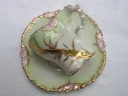 Eggshell Porcelain Demistasse Tea Cup and Saucer