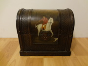 Chinese Lacquered and Painted Wooden Box