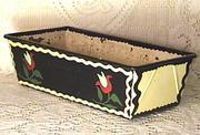 Folk art Hand painted Loaf Pan
