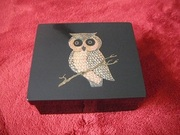 BEAUTIFUL VINTAGE OWL BOX - COUROC OF MONTEREY!