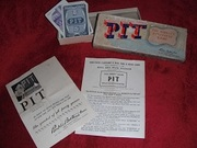 "VINTAGE 1947 ""PIT"" TRADING GAME BY PARKERS BROTHERS - ""THE WORLD'S LIVELIEST GAME!"""