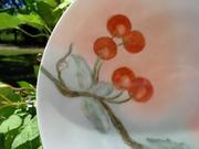 Thomas Sevres Bavaria Plate Hand Painted Cherries