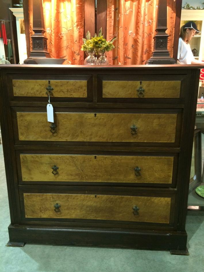 Walnut and Maple Dresser