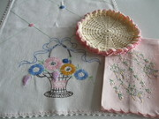 Vintage Embroidered & Crocheted Linens