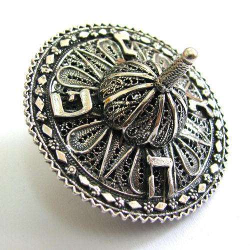 925 Sterling Silver Artisan Filigree Hanukkah DREIDEL