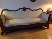 Antique French mahogany sofa