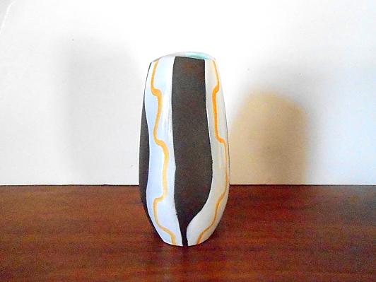 West German Pottery Fohr Vase, Midcentury Modern