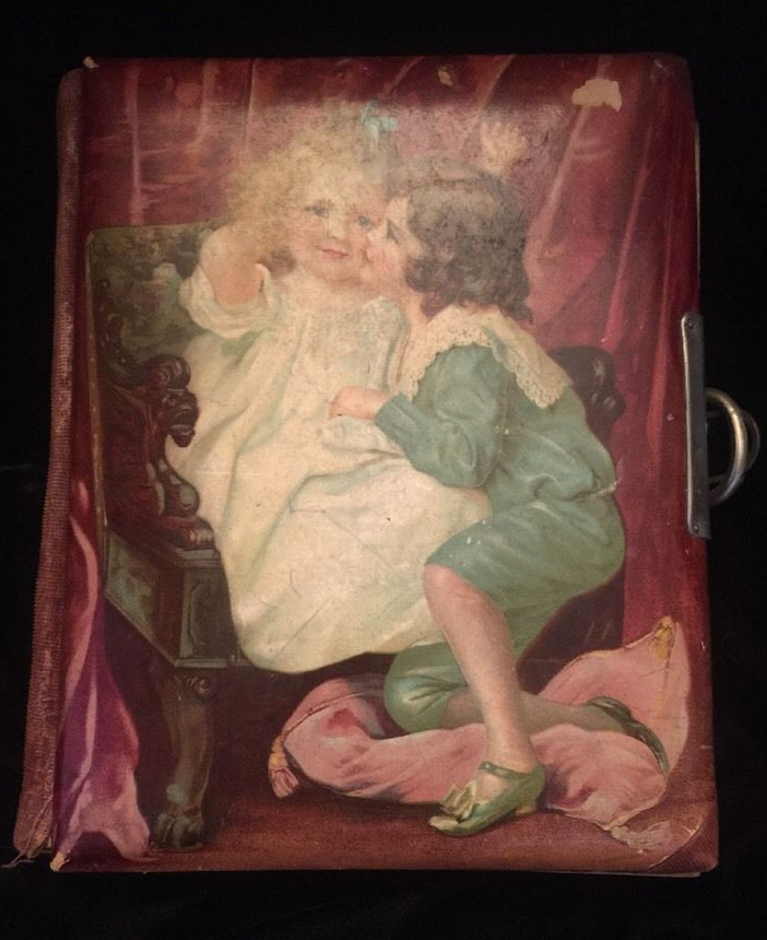 Victorian celluloid photograph album