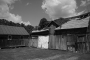 Two Barns B&W