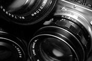 Photos Close Up Lens and Camera B&W