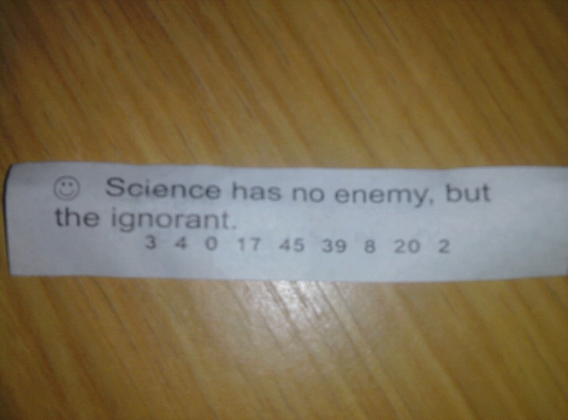 I just opened this fortune cookie.