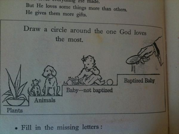 Draw a circle around the one god loves the most