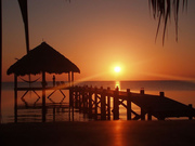 Sunrise at the Placencia Jetty