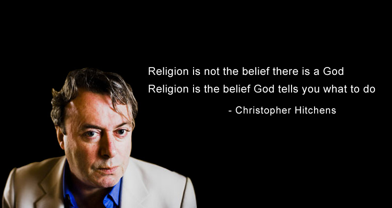 Religion is not the belief there is a god Religion is the belief god tells you what to do