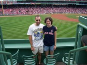 The lass and I at Fenway Park