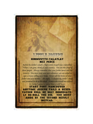 First Nations faction card - Whiskey Traders / Little Joseph Nez Perce