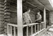 Dave & I building our first log home in the 70's