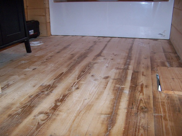 Staining the floors