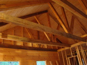 Joists - white pine branches