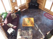 Sunroom looking down from loft