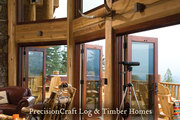 Handcrafted Log Home Great Rooms