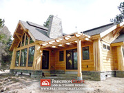 Wyoming Log Home | Mountain Accent Homes | Log Home by PrecisionCraft