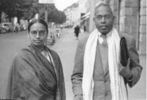 Dr. Ranganathan with wife in Russia