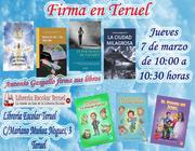 Firma en Escolar de Teruel