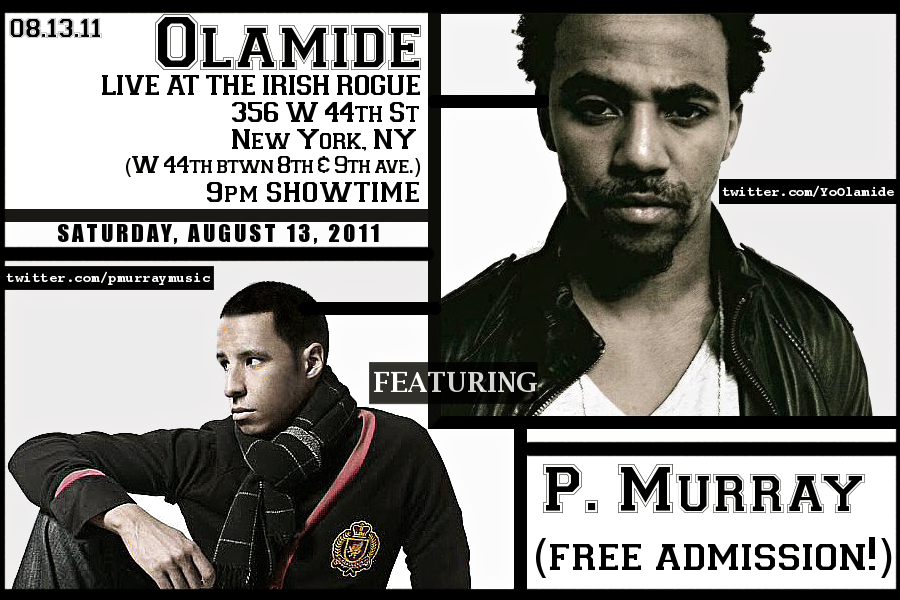 Olamide & P. Murray LIVE at the Irish Rogue