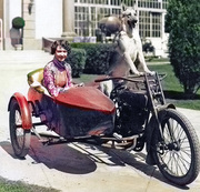 """Dorothy Sebastian and Flash The MGM Dog - """"Going For A Ride!""""- 1928"""