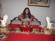 Camino de mesa. Navidad