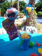 Centro de mesa pool party