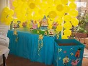 Mesa de tarta BOB ESPONJA