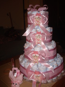 cake baby shower - pañales