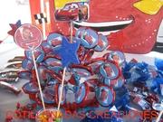 Mesa de dulces-Cars