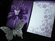 Tarjeta para 15 años estilo Mariposas