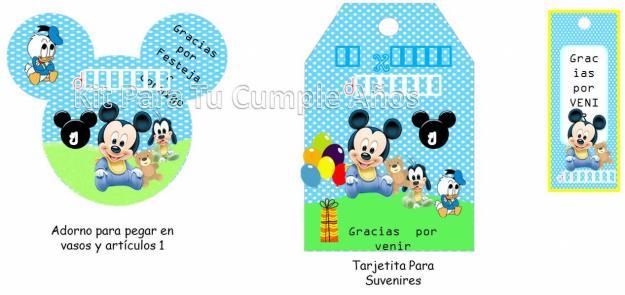 1339332506 395387753 2 Kit Imprimible Mickey Mouse Tarjetas
