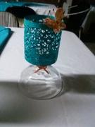 Centro de mesa de candelero
