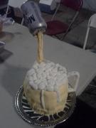 pastel en forma de tarron de cerveza