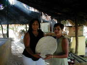 My Wife Nana and Mrs. Mecho making Casabe