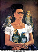 Frida Kahlo Me And My Parrots