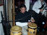 Cha on congas