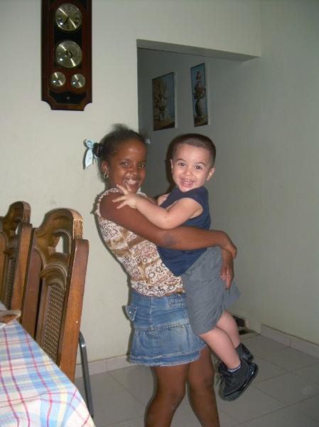 Mateo with Tia Gloria in Montecristi